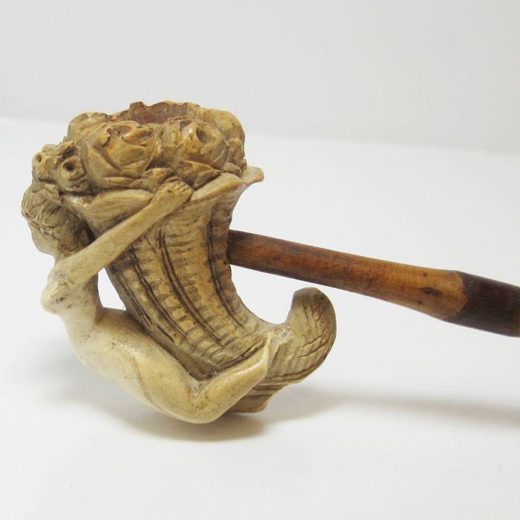 VICTORIAN NUDE MAIDEN MEERSCHAUM HAND MADE PIPE