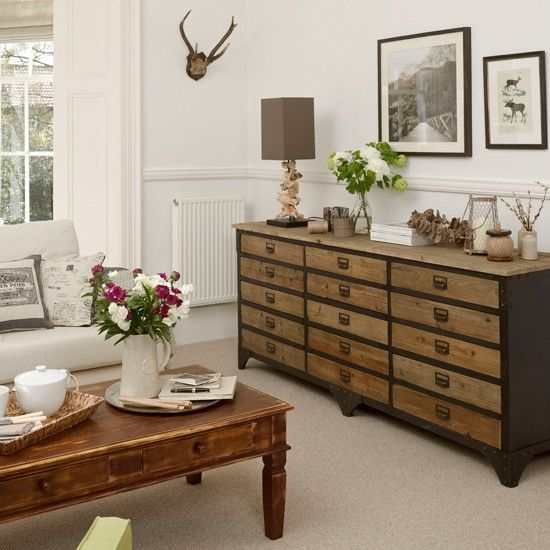 neutrel livingrooms | Neutral living room with chest of drawers | Living room decorating ...