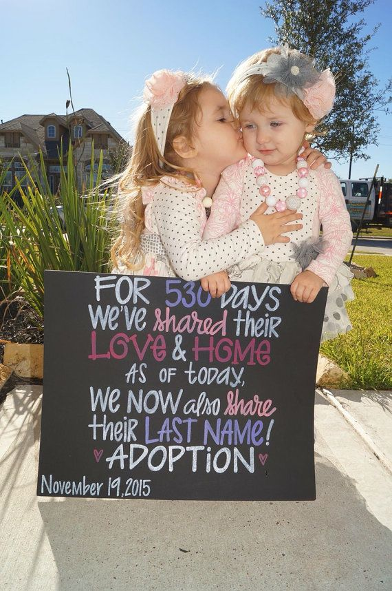 Hand Painted Adoption Day Sign,  Painted Chalkboard Artwork, Gotcha Day Foster Sign by ArtByGillian