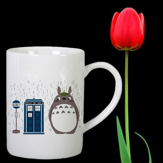 Allonsy Totoro design for mug by Mbelgedes on Etsy