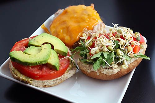 Mustard Turkey Burgers - Open Faced | food pyramid | Pinterest