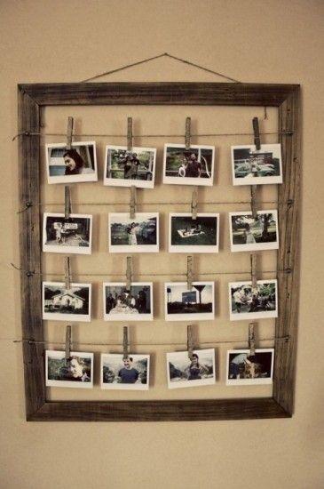 fotolijst wasknijpers touw frame Door Miekje