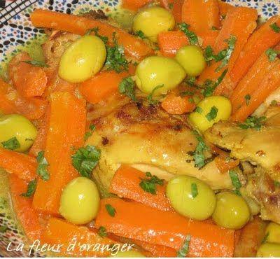 Tajine de poulet aux carottes - Blog cuisine marocaine / orientale Ma Fleur…