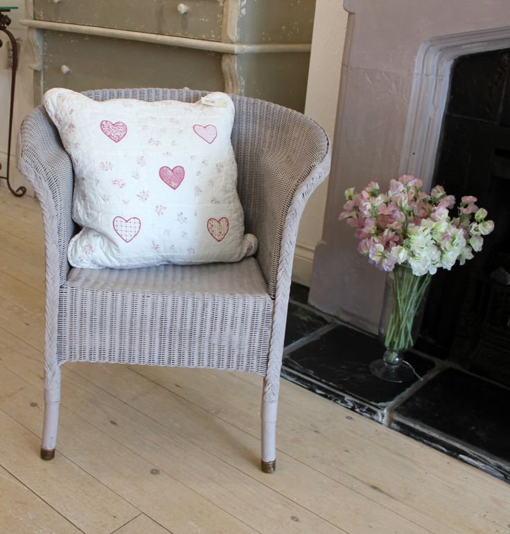 Original Lloyd Loom Chair Painted In Annie Sloan Paloma