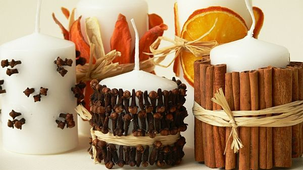 Voňavé svíčky s kořením