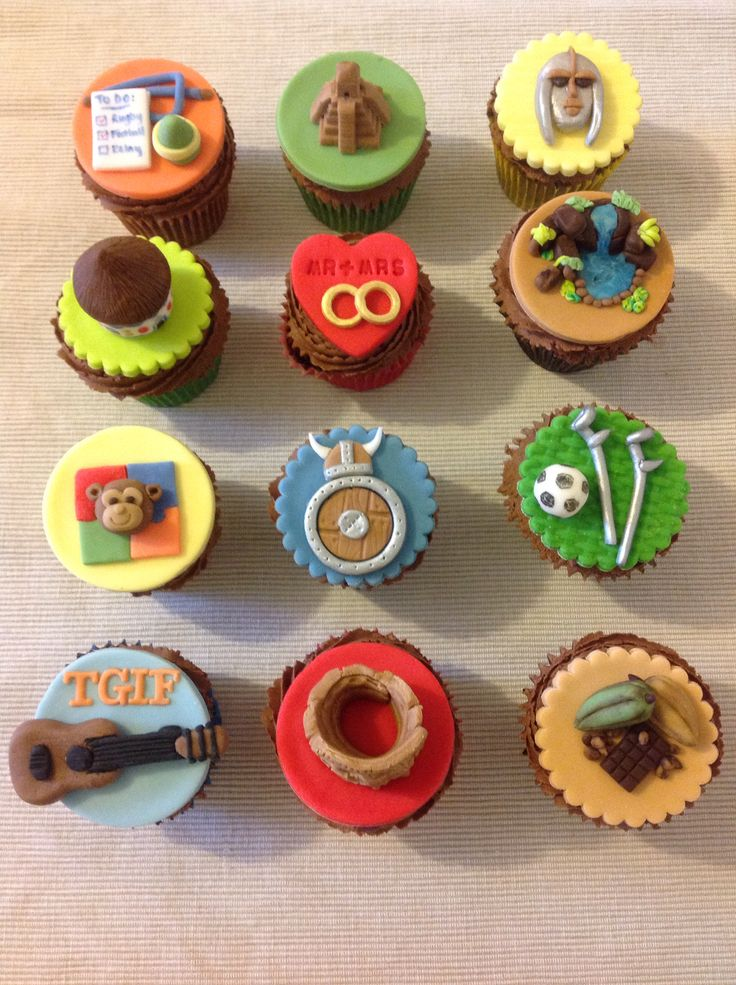 A school year's topics in cupcakes!
