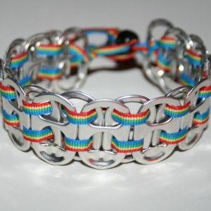 DIY Pop Tab Bracelet by TinyCarmen Pop Tab crafts page