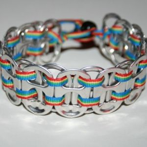 DIY Pop Tab Bracelet by TinyCarmen Pop Tab crafts page