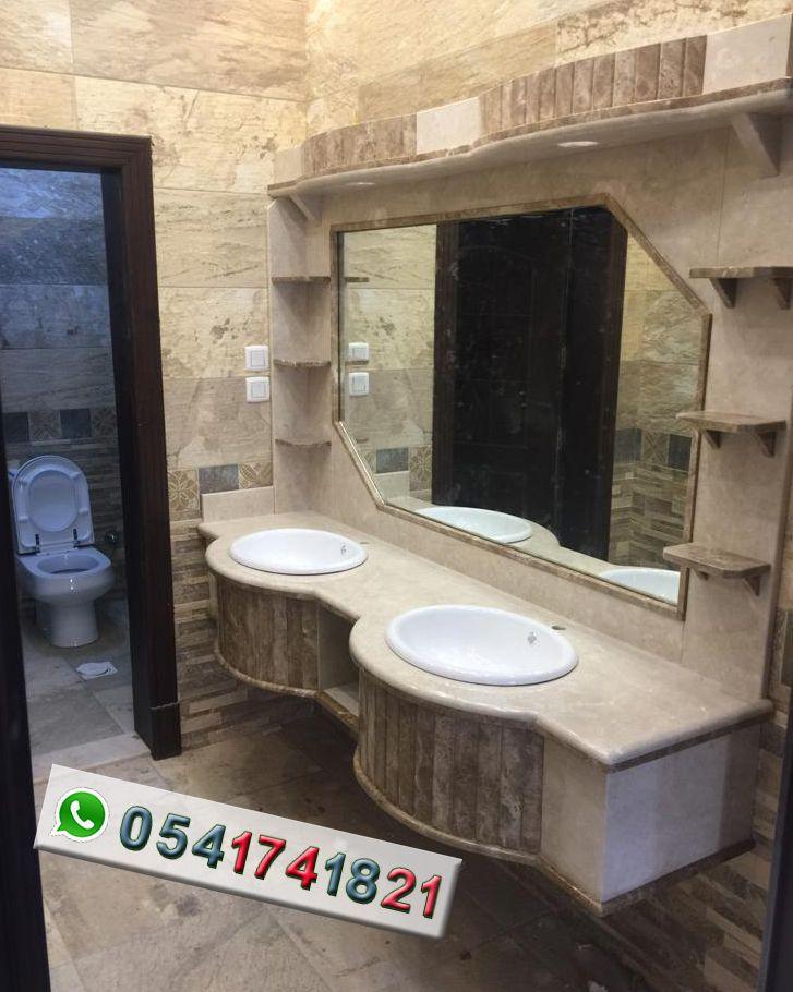 مصنع ايديال استون مغاسل رخام طبيعي وصناعي تفصيل حسب الطلب مغاسل رخام حديثة مغاسل رخام جدة خبرة اكثر Bathroom Mirror Lighted Bathroom Mirror Bathroom Lighting