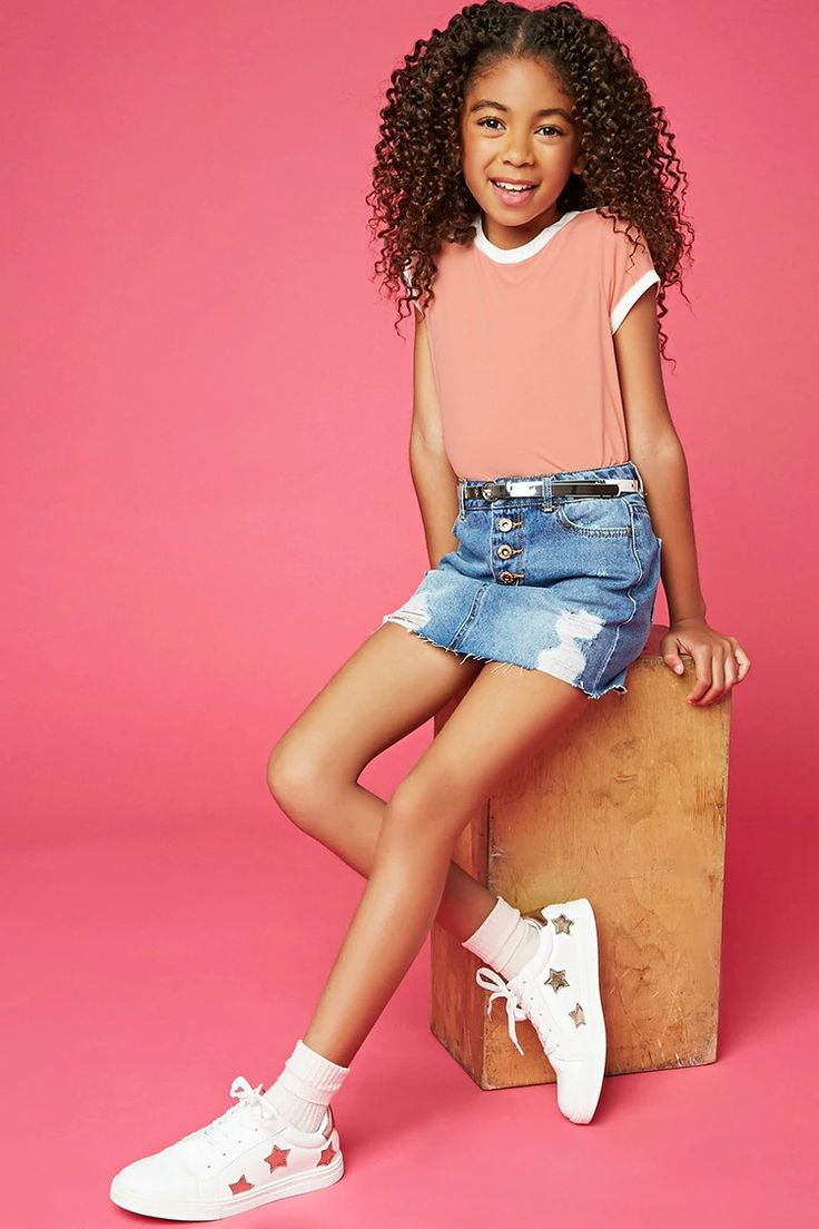 Forever 21 Girls - A jersey knit ringer tee featuring a contrast trim throughout, a round neck, and a relaxed fit.