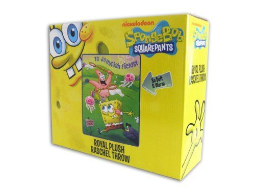 SPONG BOB SQUAREPANTS ROYAL PLUSH RASCHEL THROW TO JELLYFISH FIELDS @ niftywarehouse.com #NiftyWarehouse #Spongebob #SpongebobSquarepants #Cartoon #TV #Show