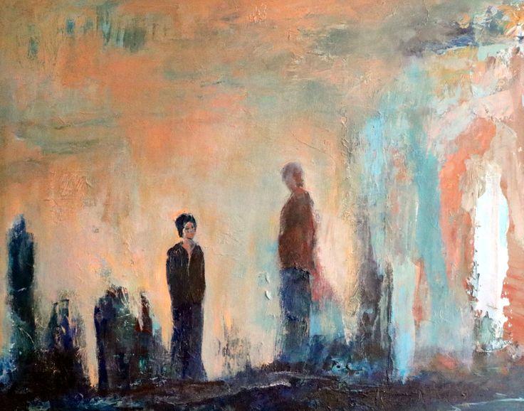"Nathalie Voisine. After Rain Comes Sunshine. Acrylic on Board. 16x20"". $920.00."