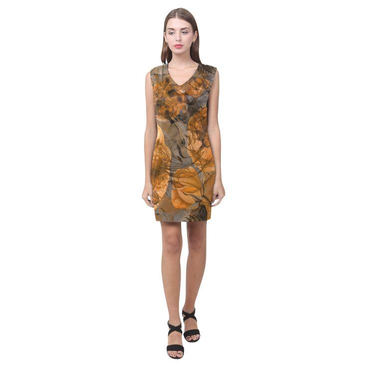 flora 9 Phoebe Sleeveless V-Neck Dress (Model D09) #dress