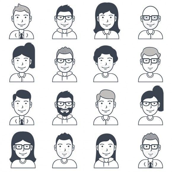 16 Free vector user avatar icons - Sketch & Ai File (1.3MB) | freebiesbug.com | #free #vector #avatar