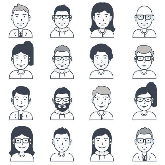 16 Free vector user avatar icons - Sketch & Ai File (1.3MB) | freebiesbug.com | #free #vector #avatar