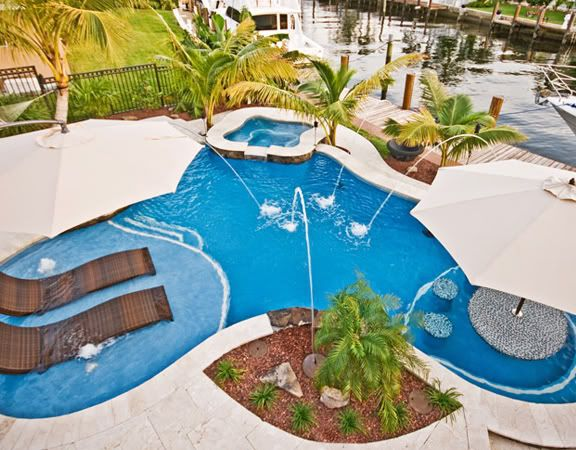 71 Best Images About Swimming Pools On Pinterest Table Umbrella Waterfalls And Pools