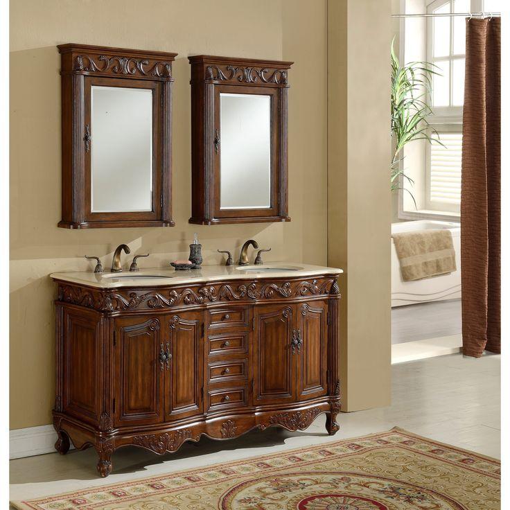 Heritage Roman -Finished Wooden Bathroom Vanity, Brown