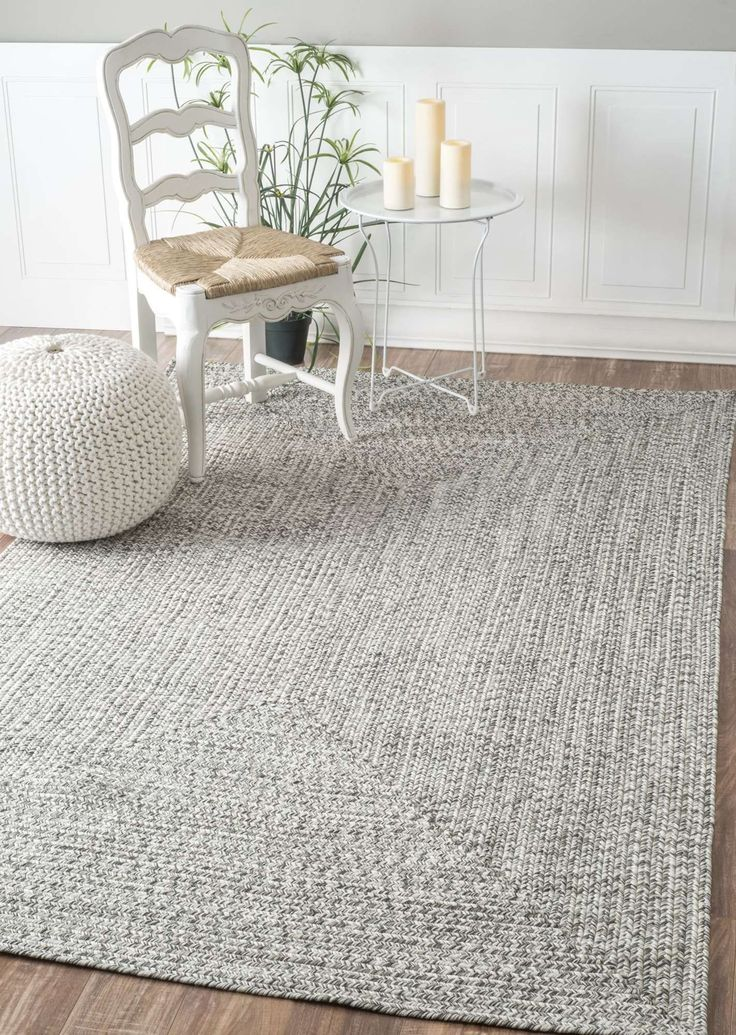 JubileeSolid Braided Indoor Outdoor Rug Grey Living RoomsLiving Room