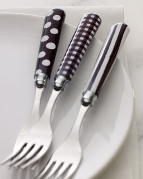 Black & White 20-Piece Flatware Service traditional flatware