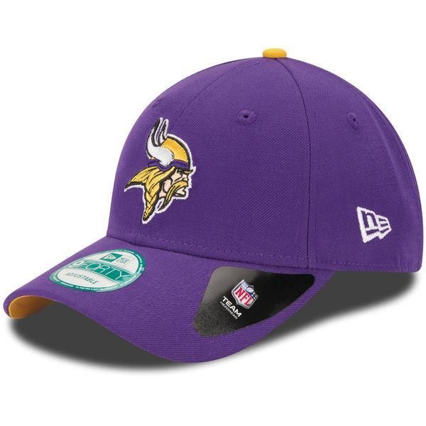 a1f21b373a1c9 Mens Minnesota Vikings New Era Purple The League 9FORTY Adjustable ...