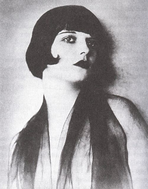 Louise Brooks, silent movie actress of the 20's....noted for popularizing the bobbed haircut