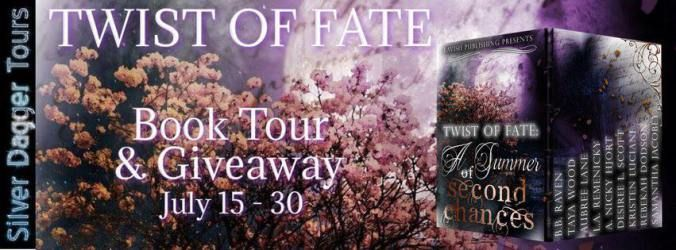 TWIST OF FATE Boxed Set with stories by Samantha Jacobey Rebekah Dodson Kristen Luciani Desiree L. Scott A. Nicky Hjort L.A. Remenicky Aubree Lane Taya Wood B.B. Raven #Romance #Suspense #Fantasy #Paranormal #Contemporary #BoxSet #99Cents #Sale  Break out of the cold with a splendid spring and summer collection  nine suspense filled tales by nine talented authors. Available for a limited time Lavish Publishing is proud to present Twist of Fate: A Summer of Second Chances. . Inside new worlds…