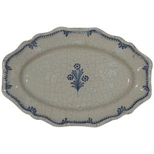 Glazed Earthenware Rouen plate - Decorative Collective