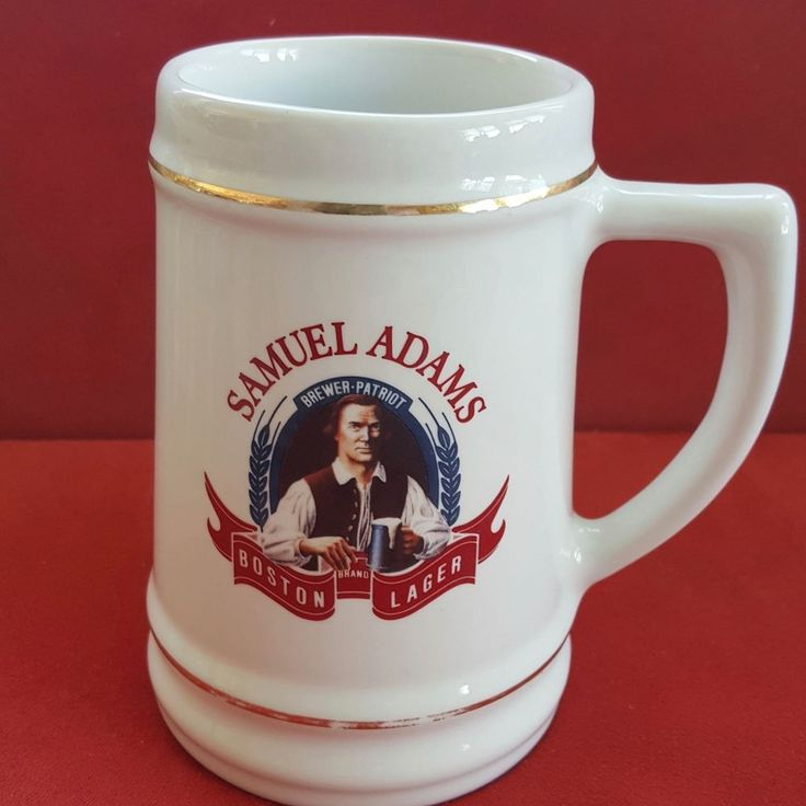 Samuel Adams Boston Lager Brewer Patriot Vintage Ceramic Beer Stein Mug #samadams #stein #beer