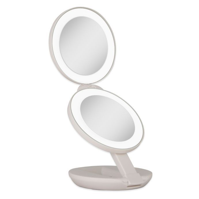 Zadro™ 1x/10x LED Lighted Travel Mirror | Bed Bath & Beyond