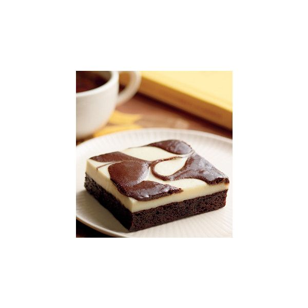 Cheesecake Brownie ❤ liked on Polyvore featuring food, photos & backgrounds and starbucks