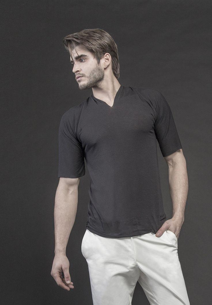 Men's black t-shirt #PANTHEIST #CAVEINcollection #menswear pantheist.co