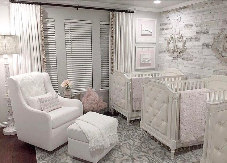 One of the most beautifully designed nursery for triplets By @melissamckean