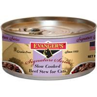 Evanger's Signature Series Slow Cooked Beef Stew for Cats, 24/5.5 oz.