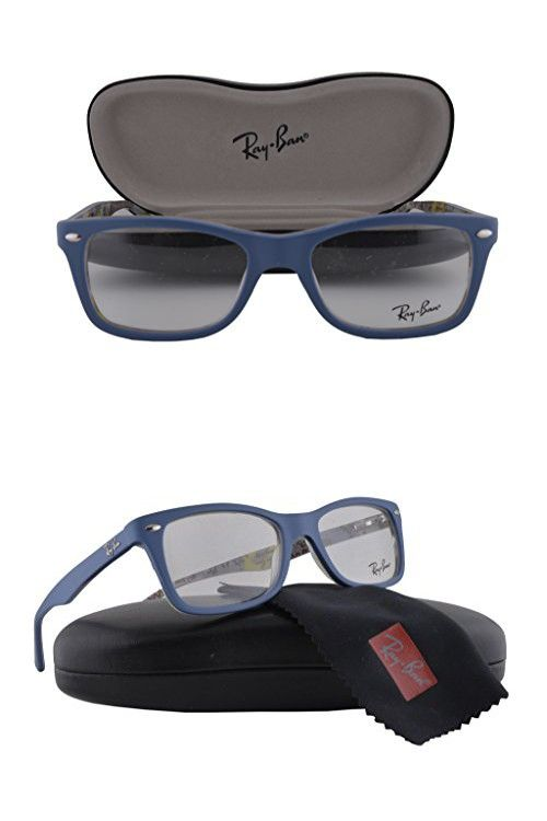 4ec16f025e Ray Ban RX5228F Eyeglasses 53-17-140 Top Blue On Texture Camouflage 5407 RX  5228F