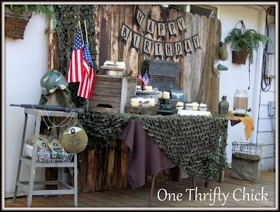 One thrifty chick army birthday party call of duty for Army theme party decoration ideas