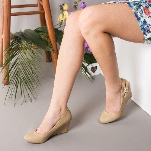 Promotie • Pantofi dama Catherine khaki cu talpa ortopedica