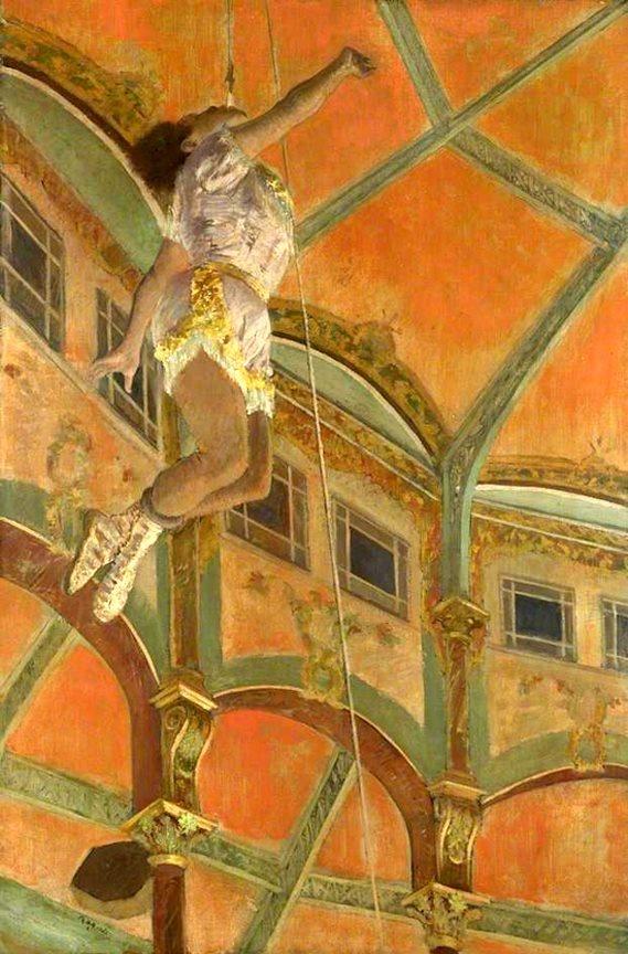 Edgar Degas - Miss La La at the Cirque Fernando 1879 - National Gallery, London (1834-1917)