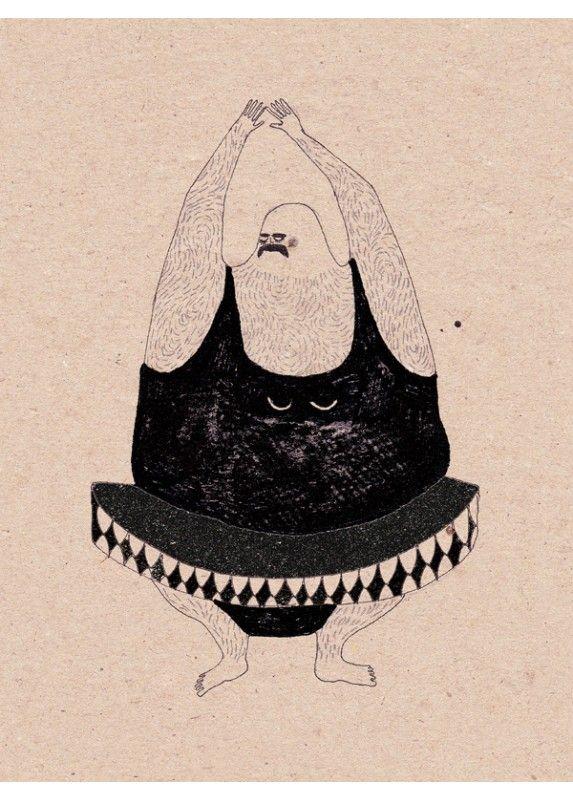 Anna Maria Lubinska - Ballet - Affiche Illustration - Dessin