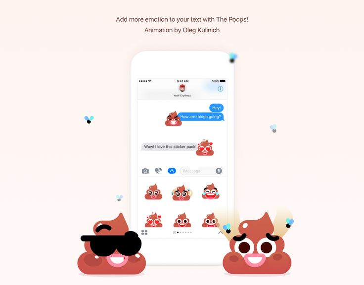 The Poops – Animated Stickers on Behance