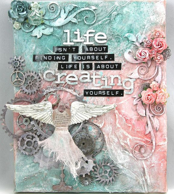 Moments of Tranquility... by Natasha Naranjo Aguirre: 'Creating Yourself' Canvas