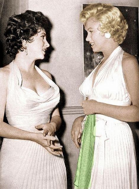 Elizabeth Taylor & Marilyn Monroe