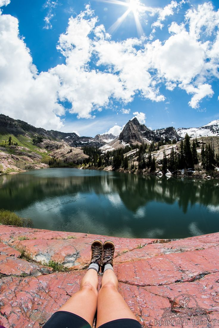 Hiking at Lake Blanche in Salt Lake City's Big Cottonwood Canyon with my Montrail's Fluid Enduro MID Leather OUTDRY Hiking boots. Full review at this link.