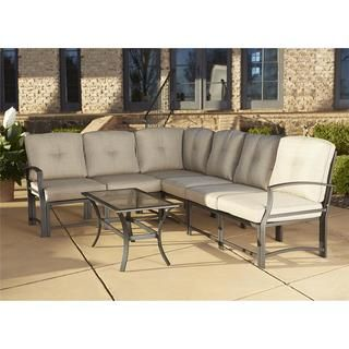 Shop For Cosco Outdoor Aluminum Sofa Sectional Patio Furniture Set With  Coffee Table. Get Free