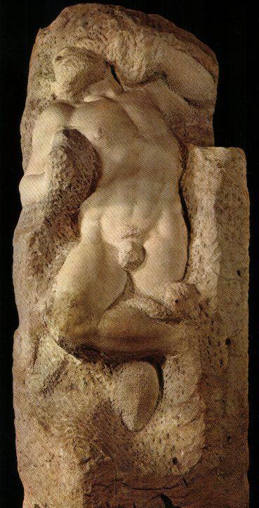 """Lo Schiavo che si ridesta è una scultura marmorea (h 267 cm) di Michelangelo, databile al 1525-1530 circa e conservata nella Galleria dell'Accademia a Firenze. Fa parte della serie dei Prigioni """"non-finiti"""" per la tomba di Giulio II."""