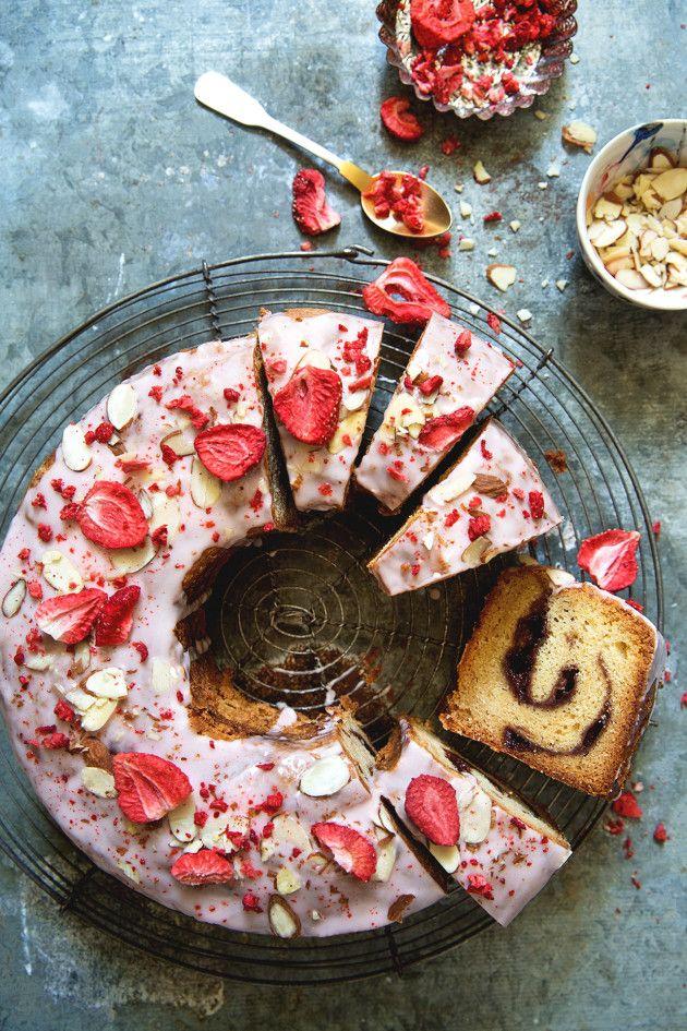 Strawberry Vanilla Jam Cake