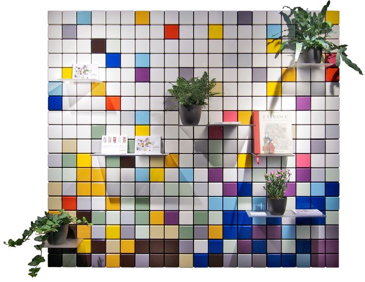 Confetti shelf system customized: 8 modules, mixed colors. #tentlondon15 #nordicdesign #shelfsystem #scandinaviandesign #interiordesign #flexibleshelfsystem
