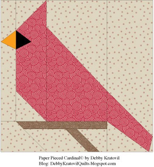 20 Best Images About Cardinals In Quilting On Pinterest