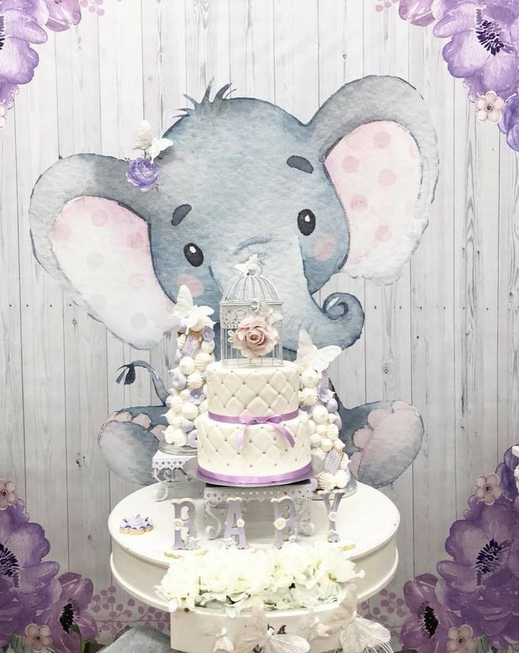 Elephant Baby Shower Decorations Purple  from i.pinimg.com