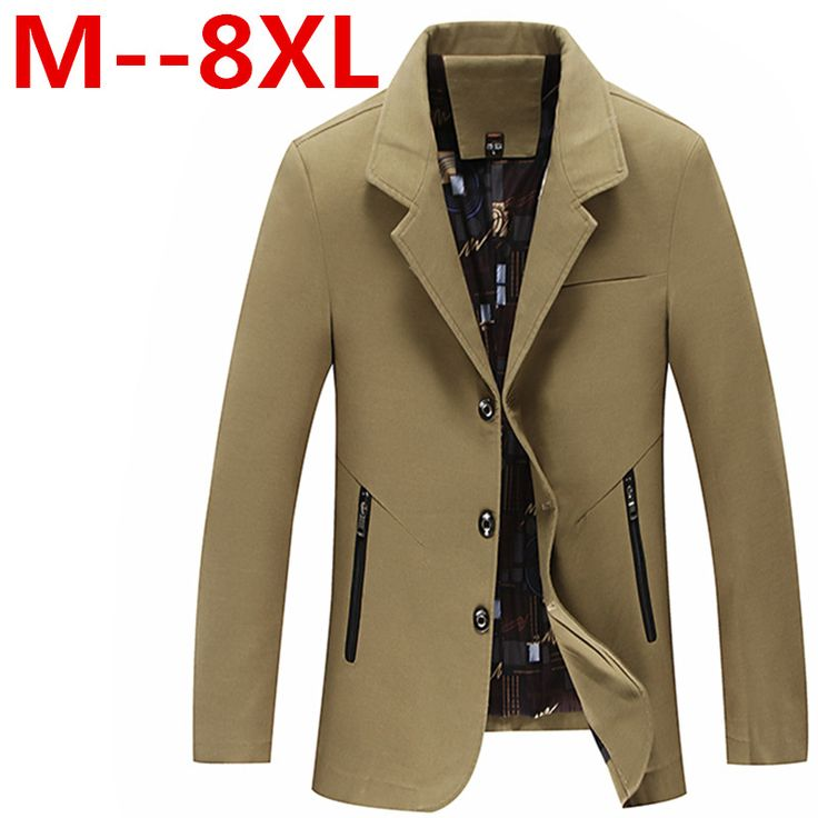 2017 Men plus size Jacket Coats Brand Outerwear Turn-down Collar Casual Coats Jaqueta Roupas Masculinas Male Clothes Outdoors #Affiliate