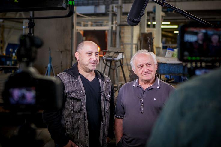 Jaroslav Bejvl senior and Jaroslav Bejvl junior - echoes of the IGS 2015. #sklozije #glasslives #igs2015 #design